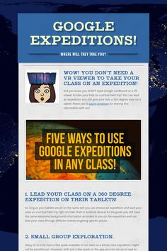 #GoogleExpeditions without a #VR viewer! #edtech