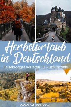 Wenn die Tage kürzer werden und die Blätter anfangen, sich zu verfärben, zeigt sich Deutschland von einer besonders schönen Seite! Ich habe meine Reiseblogger Kollegen nach ihren Tipps für Deinen Herbsturlaub in Deutschland gefragt und wir haben 11 wunderschöne Reiseziele für Dich zusammengetragen, die Du in den nächsten Herbstferien auf dem Schirm haben solltest. Entdecke mit uns wunderschöne Ausflugsziele oder Wander Tipps für deinen Kurzurlaub im deutschen Herbst!