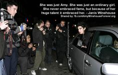"""""""She was just Amy. She was just an ordinary girl . She never embraced fame-, but because of her huge talent it embraced her. Smile Teeth, Her Smile, Her Music, Music Is Life, Amy Winehouse Quotes, Wine Club Membership, Amazing Amy, Ordinary Girls, Wine Brands"""