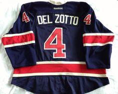 fbcec6a20 Michael Del Zotto Game Worn New York Rangers jersey 2012 2013 Set 2   gameworn