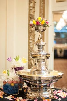 Mimosa fountain for Easter. Also available for champagne, white russians and other drinks.