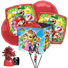 Costume Supercenter BBBK186 Mario Balloon Bouquet Kit >>> Click image to review more details.  This link participates in Amazon Service LLC Associates Program, a program designed to let participant earn advertising fees by advertising and linking to Amazon.com.