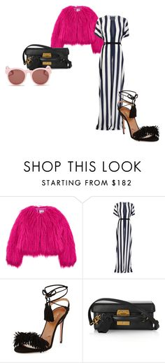 """#138: Creepy Crawlies"" by s-b-r-n-a ❤ liked on Polyvore featuring Moschino, Tome, Aquazzura, Mark Cross, Blanc & Eclare, stripes and fur"