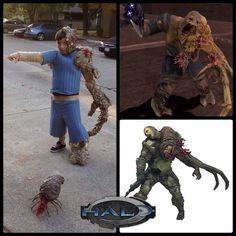 Tonio's Halo Flood-Infected Costume #Halloween #video_game #gaming #alien #prop
