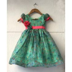 Let your little girl take the center stage with printed dress fab for parties at Lavender. Girls Frock Design, Kids Frocks Design, Baby Frocks Designs, Baby Dress Design, Baby Design, Baby Girl Frocks, Baby Girl Party Dresses, Frocks For Girls, Little Girl Dresses