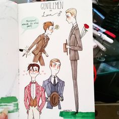 "458 Me gusta, 15 comentarios - Jewel Suan (@swans.garden) en Instagram: ""Gentlemen in love #artsy #artistsofinstagram #artistoninstagram #1920s #20sfashion #copics…"""