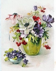 Watercolor Fruit, Watercolor Flowers, Watercolor Paintings, Vintage Diy, Soft Pastel Art, Art Through The Ages, Acrylic Painting Flowers, Beautiful Flowers Wallpapers, Plant Drawing
