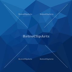 Egyptian Blue Abstract Low Polygon Background Vector Stock Illustration.  Low polygon style illustration of a egyptian blue abstract geometric background. #illustration #EgyptianBlueAbstract
