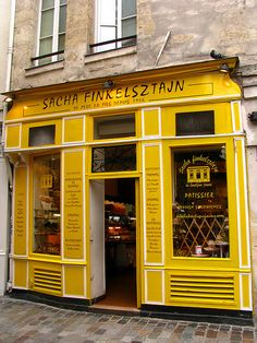 The Marais is known for the fabulous Jewish bakeries.  Rue des rosiers, Marais, Paris.   ᘡղbᘠ