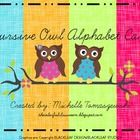 Owl Themed Alphabet Poster Cards in Cursive***Perfect for your Owl-Themed Classroom***...