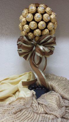 Ferrero Rocher Hazelnut Truffle Topiary by SweetThingsbyTahjii, $49.00