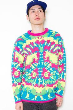 crazy neon sweater