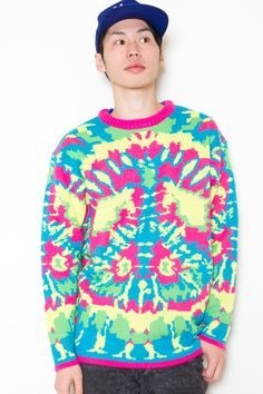 crazy neon sweater