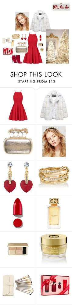 """""""HAPPY NEW YEAR"""" by femina-mode ❤ liked on Polyvore featuring Edie Parker, Chi Chi, Lilly e Violetta, Alexander McQueen, Free People, Jon Richard, SPINELLI KILCOLLIN, Rodin, Tory Burch and Oribe"""