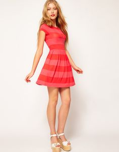 Skater Dress In Wide Stripe - ASOS - £22.00
