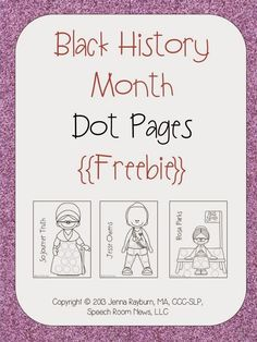 Speechie Freebies: Black History Month. Pinned by SOS Inc. Resources. www.pinterest.com/sostherapy