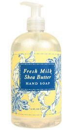 Fresh Milk Shea Butter Liquid Soap by Greenwich Bay Trading Co. - Luxurious spa product enriched with shea butter, cocoa butter and buttermilk.
