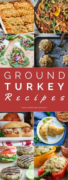 Make one of these healthy ground turkey recipes for dinner this week or prep ahead of time and enjoy for lunch.