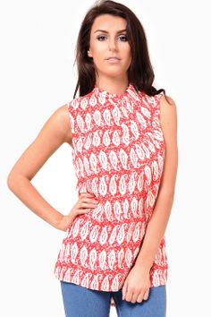 This graphic print top is a wardrobe staple. Perfect worn with skinny denim jeans or tucked into a high waist skirt with a pair of killer heels. - Pleated wrap neck detail - Hi-low dip hem back - Sleeveless styling - High neck - Exposed zip Waist Skirt, High Waisted Skirt, High Neck Top, Killer Heels, Denim Skinny Jeans, Paisley Print, Wardrobe Staples, Dip, Tank Tops
