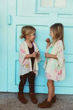 Boho style for the littles. Very Coachella and very cute.