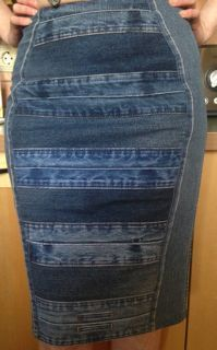 denim waist band skirt