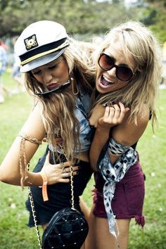 ☼ ☯ ✿ ✿ ☯ ☼ - best friends summer spring warm hot weather girlfriends friend soulmates festival party outside music boho sexy shorts jeans festival style fashion sunglasses glasses