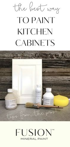 Kitchent Cabinets Makeover The best way to paint kitchen cabinets with Fusion Mineral Paint - items pictured are best tools for painting your kitchen. Kitchen Paint, New Kitchen, Kitchen Decor, Painting Kitchen Cupboards, Decorating Kitchen, Kitchen Ideas, Kitchen Designs, Kitchen Tips, Kitchen Gadgets