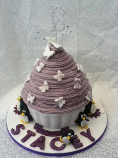 giant cupcake cake  by homemade by june