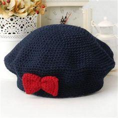Bowknot Loveable Baby's Beret Beret, Baby Hats, Beanie, Cap, Fashion, Baseball Hat, Moda, Berets, Fashion Styles