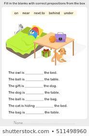 preposition worksheets in on under English Worksheets For Kindergarten, First Grade Worksheets, English Grammar Worksheets, Kindergarten Worksheets, In Kindergarten, Grammar For Kids, Teaching English Grammar, Learning English For Kids, English Lessons For Kids