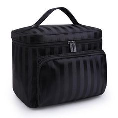 c8a311b891 Deluxe Large-Capacity Cosmetics Travel Organizer. Diamond Lattice Big  Cosmetic Bag Women Waterproof Professional Toiletry ...