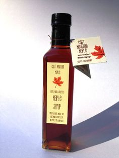 Pure Maple Syrup--8.45 oz. Tall Bottle on Etsy, $9.00