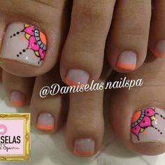 84 best toe nail art ideas in 2019 019 Related Pretty Toe Nails, Cute Toe Nails, Love Nails, Diy Nails, How To Do Nails, Neon Toe Nails, Pedicure Designs, Pedicure Nail Art, Toe Nail Designs