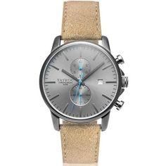 Reloj caballero TAYROC Correa cuero. Negro. Manecilla azul Cuando piensas  en mezclar cuero 610377fc6b7