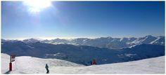 snowboarding in Meribel France