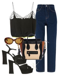 """""""Untitled #3298"""" by camilae97 ❤ liked on Polyvore featuring Alexander Wang, Yves Saint Laurent, Acne Studios and A Weathered Penny"""