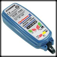 Cargador mantenedor de baterías Optimate 3, para baterías de 12V (de gel, AGM/MF, standard) de 2 Ah de capacidad nominal de 30Ah.
