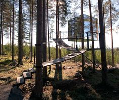 Treehotel, Harads, Sweden    Childhood treehouses never looked like this. Leading Swedish architects give the backyard staple a strange futuristic makeover at the Treehotel.