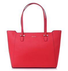 c2d0d00c78 Velká červená kožená kabelka Cromia  shopper  kabelkadoruky Kate Spade