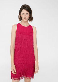 ff4ced8413cd Φόρεμα ριχτό κρόσσια - Γυναίκα