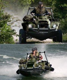 Want: from land to sea transforming vehicle Army Vehicles, Armored Vehicles, Ski Doo, Amphibious Vehicle, Terrain Vehicle, Bug Out Vehicle, Cool Boats, Engin, Buggy
