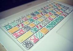 PCのおしゃれは手元から!マスキングテープでキーボードをデコ - NAVER まとめ