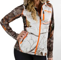 FXR Women's ELEVATION PILE ZIP UP - CAMO (2015). $99.99 - Sizes 2-18 •100% polyester bonded pile interior •375g •Interior pile fabric offers a luxurious handfeel •Dries quickly •Contrast flat-lock seaming for stream-lined comfort •Embroidered logos •Zippered chest and hand pockets http://www.upnorthsports.com/snowmobile/snowmobile-clothing/mid-layer/fxr-womens-elevation-pile-zip-up-camo-2015.html