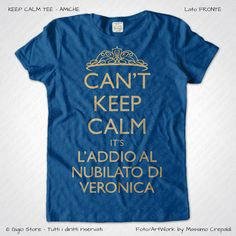 Magliette Keep Calm Addio Nubilato Amiche della Sposa T-Shirt Colore Blu Royal Stampa Dorata Taglia XS-S-M-L-XL-XXL