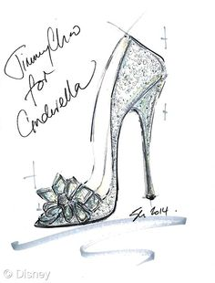 """""""I think every girl desires a Cinderella moment in their lives. This story ignites a love affair and fascination with shoes that never dies. The power they have to transform is instilled from a young age and the fantasy remains alive forever. I wanted to create a shoe that felt magical, with alluring sparkle and a feminine, timeless silhouette evoking those childhood emotions."""" — Sandra Choi, creative director"""
