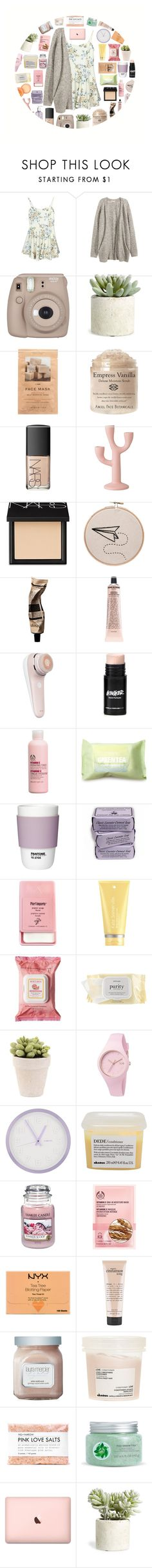 """stuck with nowhere to go"" by defying-gravity-xxx ❤ liked on Polyvore featuring H&M, Fujifilm, Allstate Floral, NARS Cosmetics, Bloomingville, Aromatique, Grown Alchemist, The Body Shop, Forever 21 and Pantone"