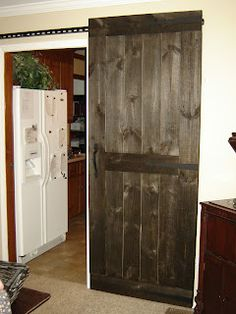 DIY Picture Tutorial: Sliding Wooden Country Doors, for double or single entry ways!