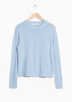 & Other Stories image 1 of Cashmere Knit Sweater in Light Blue