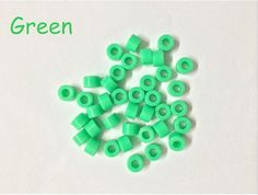 100Pcs Green Small Type Dental Hygienist Silicone Instrument Color Code Rings  #Haodental