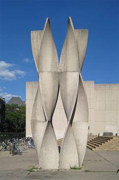 Helix of Life, Ted Bieler, 1971 Precast Concrete Panels, Concrete Column, Concrete Facade, Concrete Texture, Concrete Houses, Concrete Crafts, Concrete Art, Concrete Walls, Concrete Architecture